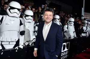 Andy Serkis at the World Premiere of Star Wars: The Force Awakens held at TCL Chinese Theatre, Hollywood Blvd, Los Angeles, CA on December 14, 2015.