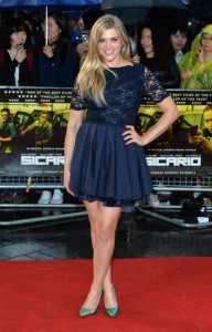 Anna Williamson attends the U.K. film premiere of Sicario held at Empire Cinema, Leicester Square, London on September 21, 2015.