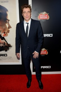 Benicio del Toro attends the New York film premiere of Sicario held at the Museum of Modern Art, NYC on September 14, 2015.