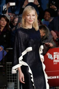 Cate Blanchett attends the U.K. film premiere of Carol held in Leicester Square, London on October 14, 2015.