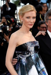 Cate Blanchett attends the French film premiere of Carol during 68th Annual Cannes Film Festival on May 17, 2015.