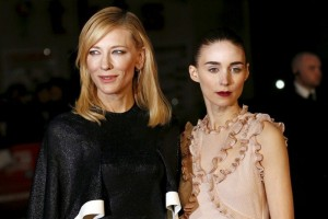 Cate Blanchett and Rooney Mara attend the U.K. film premiere of Carol held in Leicester Square, London on October 14, 2015.