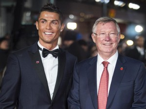 Cristiano Ronaldo and Sir Alex Ferguson attend the world film premiere of Ronaldo held at Vue West End, Leicester Square, London on November 9, 2015.
