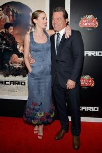 Emily Blunt and Josh Brolin attend the New York film premiere of Sicario held at the Museum of Modern Art, NYC on September 14, 2015.