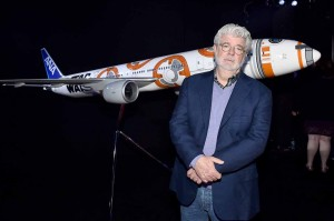 George Lucas attends the World Premiere of Star Wars: The Force Awakens held at TCL Chinese Theatre, Hollywood Blvd, Los Angeles, CA on December 14, 2015.