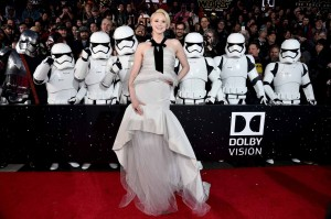 Gwendoline Christie attends the World Premiere of Star Wars: The Force Awakens held at TCL Chinese Theatre, Hollywood Blvd, Los Angeles, CA on December 14, 2015.