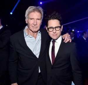 Harrison Ford and J.J. Abrams at the World Premiere of Star Wars: The Force Awakens held at TCL Chinese Theatre, Hollywood Blvd, Los Angeles, CA on December 14, 2015.