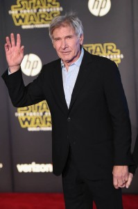 Harrison Ford attends the World Premiere of Star Wars: The Force Awakens held at TCL Chinese Theatre, Hollywood Blvd, Los Angeles, CA on December 14, 2015.