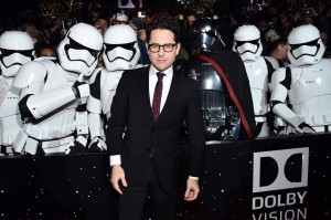 J.J. Abrams and Stormtroopers at the World Premiere of Star Wars: The Force Awakens held at TCL Chinese Theatre, Hollywood Blvd, Los Angeles, CA on December 14, 2015.