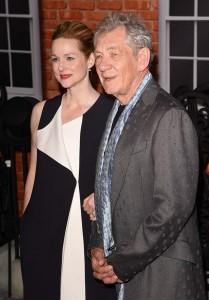 Laura Linney and Sir Ian McKellen at the U.K. film premiere of Mr. Holmes held at Odeon, Kensington, London on June 10, 2015.