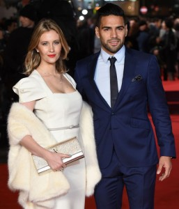 Lorelei Taron and Radamel Falcao attends the world film premiere of Ronaldo held at Vue West End, Leicester Square, London on November 9, 2015.