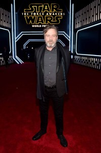 Mark Hamill attends the World Premiere of Star Wars: The Force Awakens held at TCL Chinese Theatre, Hollywood Blvd, Los Angeles, CA on December 14, 2015.