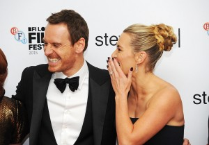 Michael Fassbeder and Kate Winslet attend the U.K. film premiere of Steve Jobs held at Empire Cinema, Leicester Square, London on October 18, 2015.