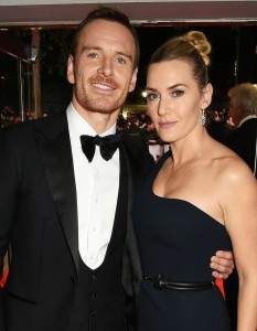 Michael Fassbender and Kate Winslet attend the U.K. film premiere of Steve Jobs held at Empire Cinema, Leicester Square, London on October 18, 2015.