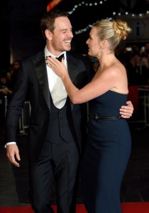 Michael Fassbender and Kate Winslet at the U.K. film premiere of Steve Jobs held at Empire Cinema, Leicester Square, London on October 18, 2015.