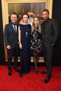 Michael Sheen, Carey Mulligan, Juno Temple and Matthias Schoenaerts at the New York premiere of Far from the Madding Crowd on April 27, 2015.