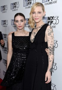 Rooney MAra and Cate Blanchett attend the New York film premiere of Carol held at the Musuem of Modern Art, NYC on November 16, 2015.