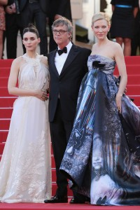 Rooney Mara, Director Todd Haynes and Cate Blanchett attend the French film premiere of Carol during 68th Annual Cannes Film Festival on May 17, 2015.