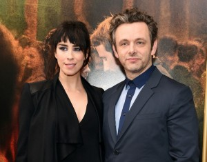 Sarah Silverman and Michael Sheen at the New York premiere of Far from the Madding Crowd on April 27, 2015.