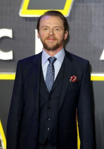 Simon Pegg attends the UK film premiere of Star Wars: The Force Awakens held at Odeon and Empire Cinemas, Leicester Square London. (December 14, 2015)
