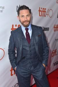 Tom Hardy attends the Canadian film premiere of Legend during 2015 Toronto International Film Festival on September 12, 2015.