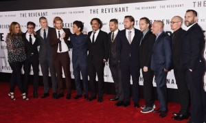 Cast and Crew of The Revenant attend the Los Angeles premiere held at TCL Chinese Theatre, Hollywood Blvd on January 16, 2016.