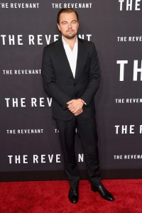 Leonardo DiCaprio attends The Revenant Premiere in New York held at AMC Leows Lincoln Square on January 6, 2016.