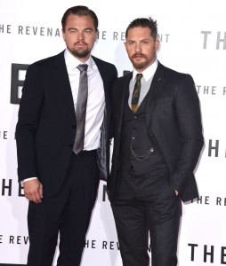 Leonardo DiCaprio and Tom Hardy attend The Revenant Premiere in Los Angeles held at TCL Chinese Theatre, Hollywood Blvd on January 16, 2016.