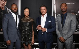 Cast and Director of Creed attend the Los Angeles premiere in Westwood, CA.