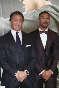 Sylvester Stallone and Michael B. Jordan attend the UK film premiere of Creed held at Empire Cinema, Leicester Square on January 12, 2016.