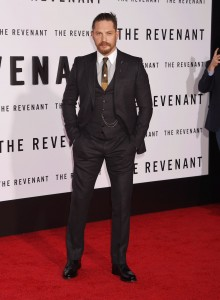 Tom Hardy attends The Revenant Premiere in Los Angeles held at TCL Chinese Theatre, Hollywood Blvd on January 16, 2016.