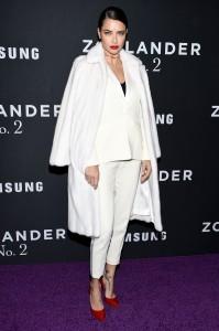 Adriana Lima attends the Zoolander No.2 premiere in New York City.