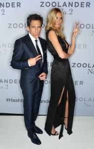 Ben Stiller & Heidi Klum attend the Australian premiere of Zoolander No. 2 held at State Theatre in Sydney on January 26, 2016.