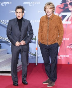 Ben Stiller & Owen Wilson attend the Berlin premiere of Zoolander No. 2 held at Cinestar Cinema, Germany on February 2, 2016.