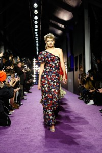 Gigi Hadid walks the runway in Marc Jacobs during the Zoolander No.2 New York City premiere