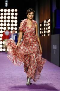 Irina Shayk walks the runway in Marc Jacobs during the Zoolander No.2 New York City premiere