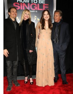 How to be single whats on the red carpet dakota johnson have her famous parents melanie griffith and don johnson by her side along ccuart Image collections