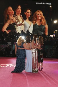 Ladies of How to Be Single attend the European premiere in Leicester Square, London.