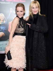 Leslie Mann and Melanie Griffith attends the How To Be Single Premiere in New York held at NYU Skirball Center, NYC on February 3, 2016.