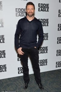 Hugh Jackman attends a screening for Eddie the Eagle in New York City on February 2, 2016.