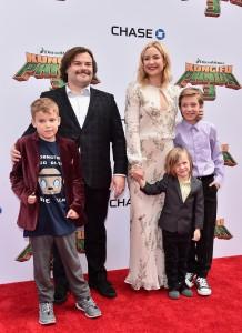 Samuel Jaosn Black, Jack Black, Kate Hudson, Binghham Hawn Bellamy, Ryder Robinson attend the Kung Fu Panda 3 premiere in Los Angeles held at TCL Chinese Theatre, Hollywood Blvd.