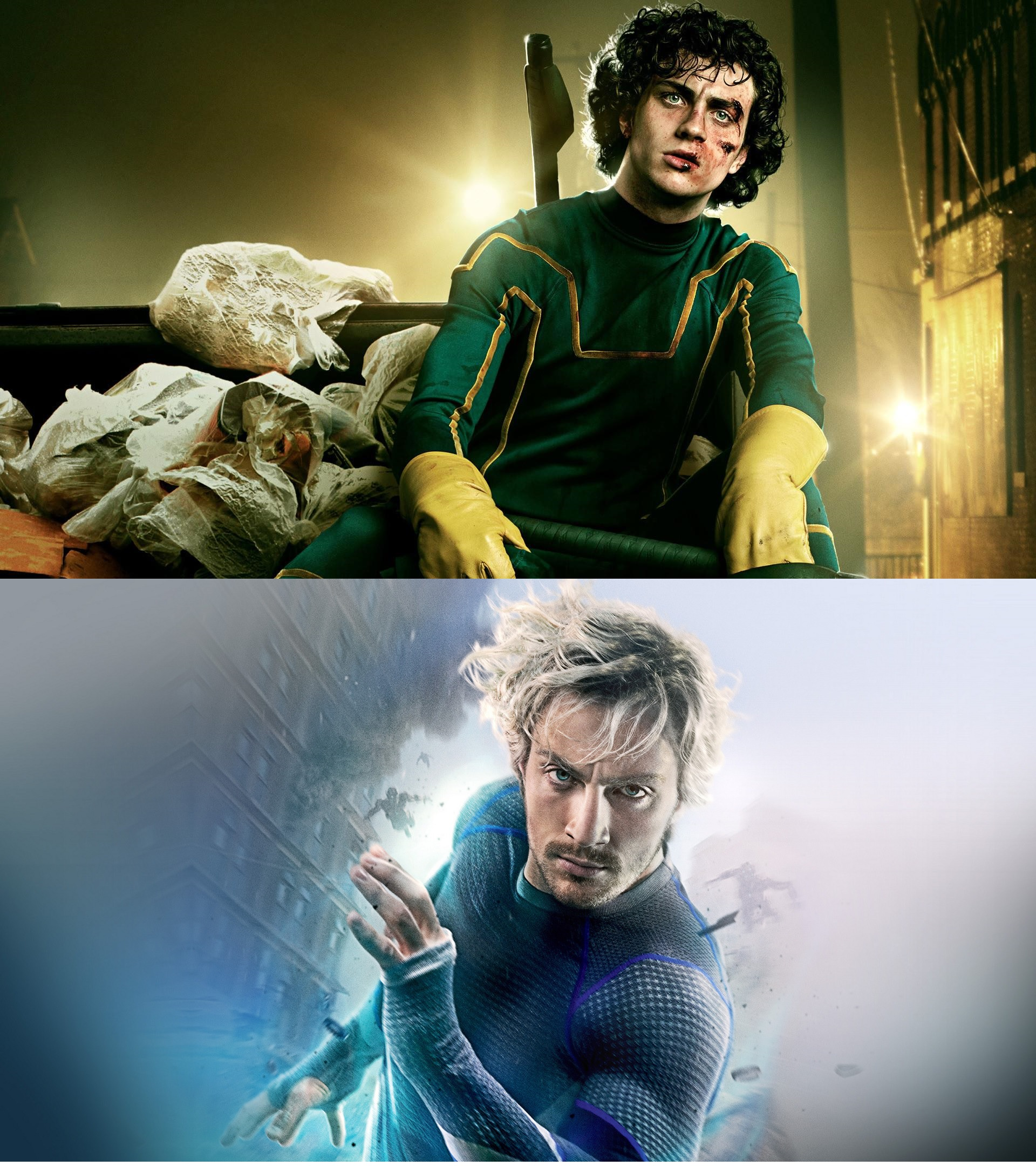 Aaron Taylor-Johnson as Kick-Ass and Quicksilver - Actors who have played more than one superhero
