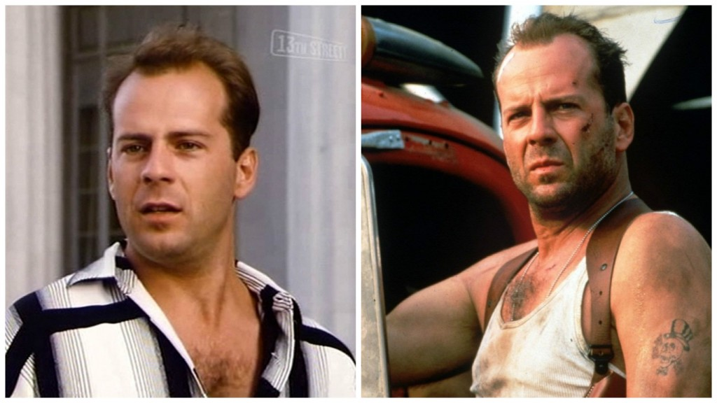 Bruce Willis in Miami Vice and Die Hard