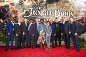 The Cast of The Jungle Book at the world premiere held at El Capitan Theatre, Hollywood Blvd, Los Angeles, California on April 4, 2016.