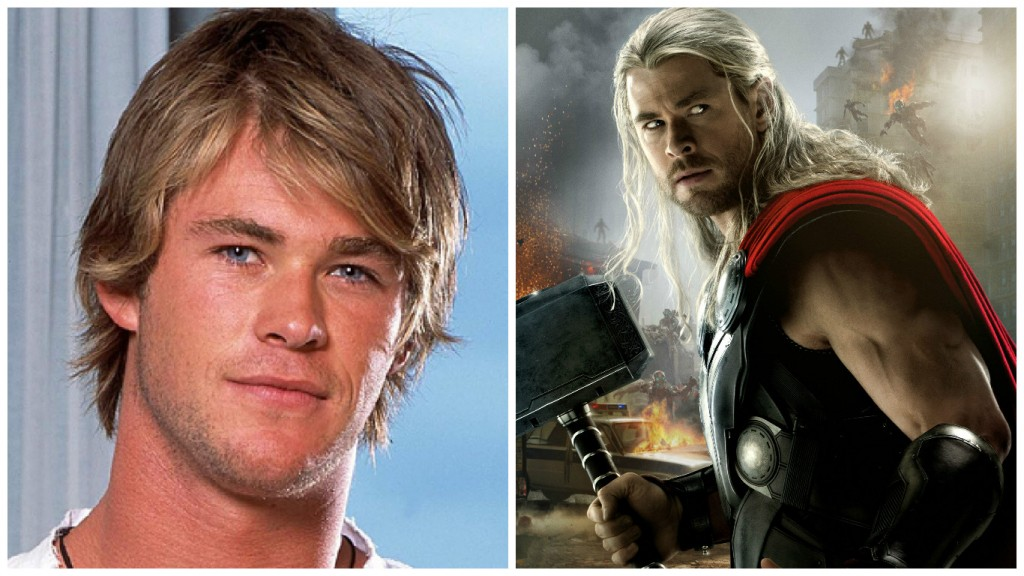 Chris Hemsworth from Home and Away to Thor