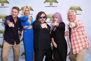 Dave Hughes, Sophie Monk, Jack Black, Kelly Osbourne and Ian Dickson at the Kung Fu Panda 3 Sydney Premiere