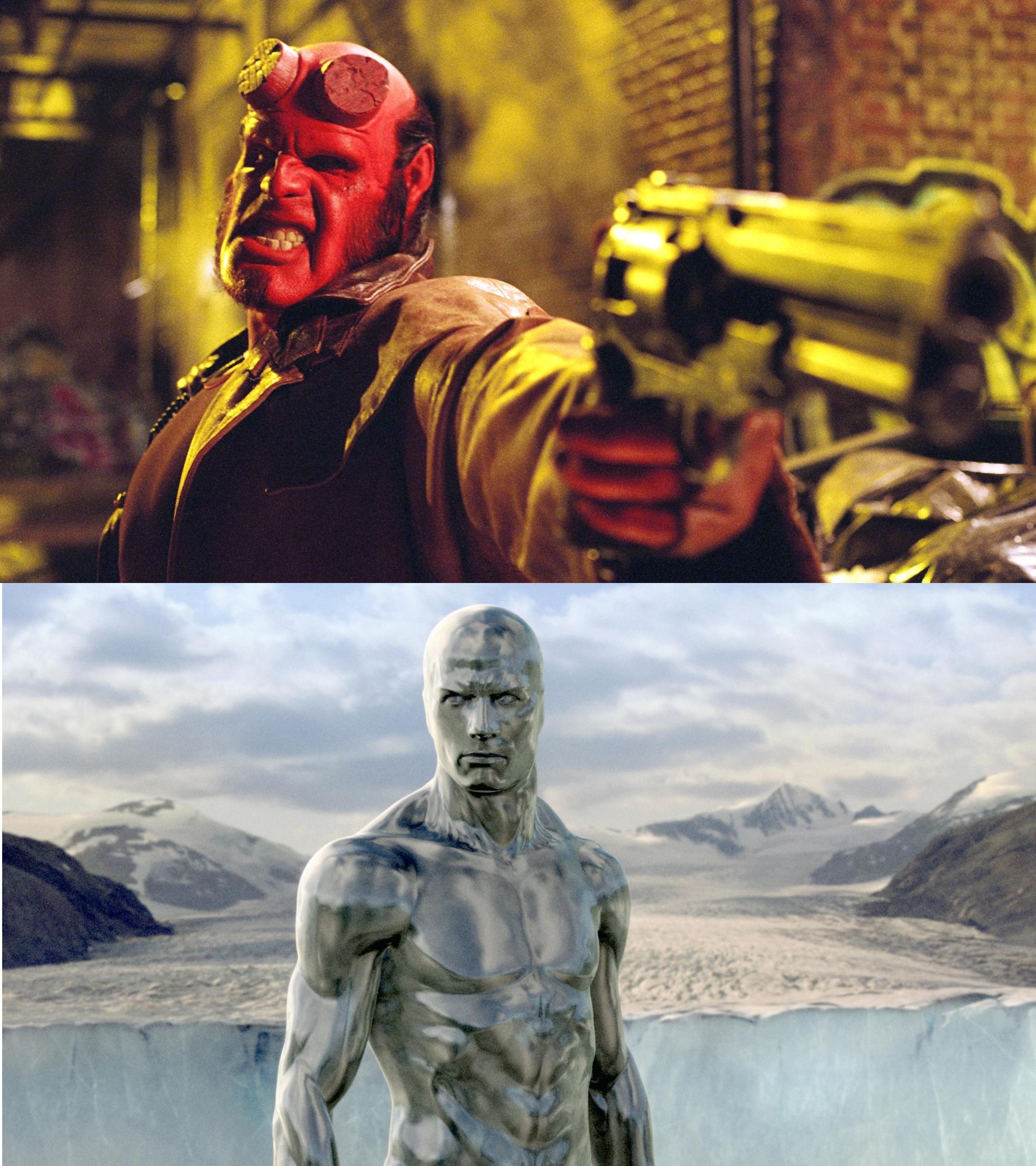 Doug Jones as Hellboy and Silver Surfer - Actors who have played more than one superhero
