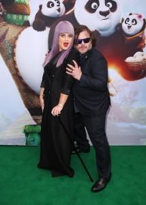 Kelly Osbourne and Jack Black at the Kung Fu Panda 3 Sydney Premiere