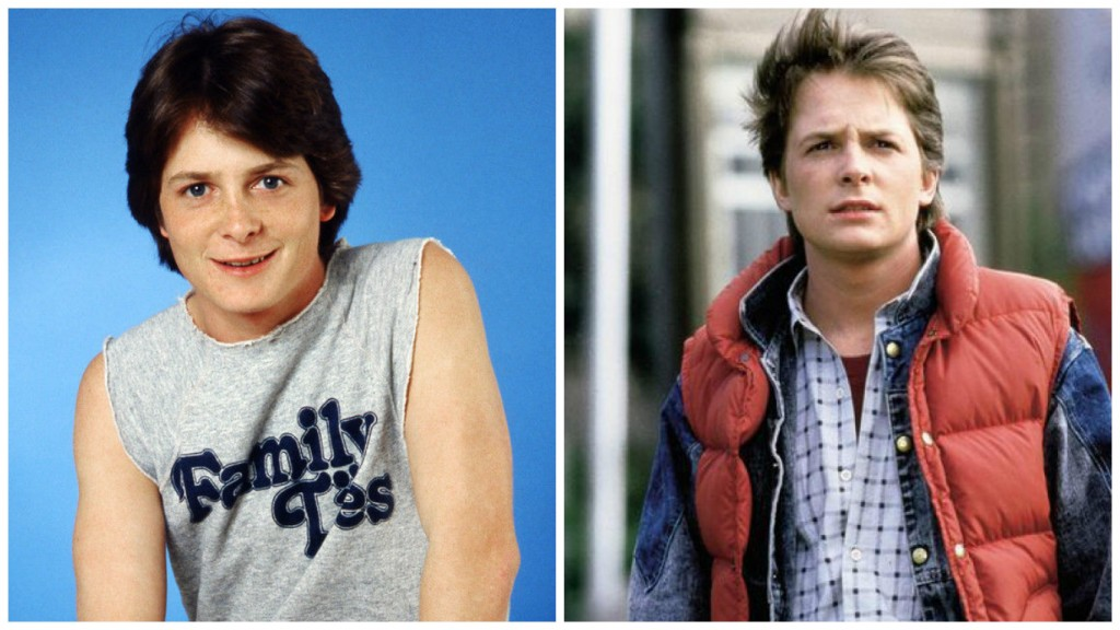 Michael J. Fox in Family Ties and Back to the Future