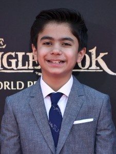 Neel Sethi at the world premiere of The Jungle Book held at El Capitan Theatre, Hollywood Blvd, Los Angeles, California on April 4, 2016.